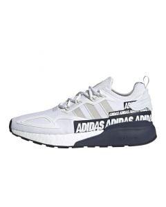 Shop adidas Originals ZX 2K Boost Mens Sneaker White Grey Collegiate Navy at Side Step Online
