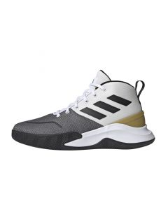 Shop adidas Performance OwnTheGame Mens Sneaker White Black Gold at Side Step Online