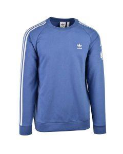 Shop adidas Originals 3D Trefoil 3 Stripe Crew Sweater Mens Blue at Side Step Online