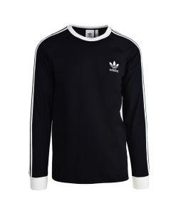 Shop adidas Originals 3 Stripes Long Sleeve Mens Black at Side Step Online