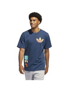 Shop adidas Originals Surreal Summer Trefoil T-shirt Men Crew Navy at Side Step Online
