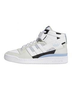 Shop adidas Originals Forum Mid Mens Sneaker White Ambient Sky Black at Side Step Online