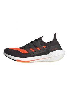 Shop adidas Performance Ultraboost 21 Mens Sneaker Carbon Black Red at Side Step Online