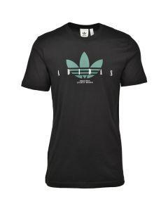Shop adidas Originals Trefoil Script T-shirt Mens Black at Side Step Online