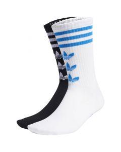 Shop adidas Originals Trefoil Crew 2 Pack Socks White Black at Side Step Online