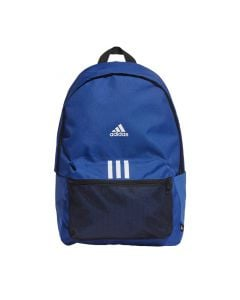 Shop adidas Performance Classic Badge of Sport 3 Stripes Backpack Blue Black at Side Step Online