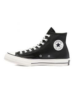 Shop Converse Chuck Taylor '70 Hi Mens Sneaker Leather Black Egret at Side Step Online