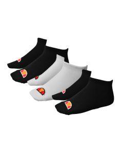 Shop ellesse Trainer Secret Socks 3 Pack Black White at Side Step Online