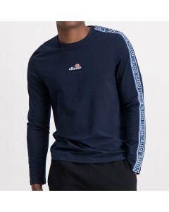 Shop ellesse Long Sleeve Tape Mens T-Shirts Dress Blue at Side Step Online