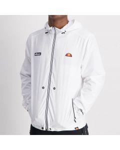 Shop ellesse Zip Through Windbreaker Mens White at Side Step Online