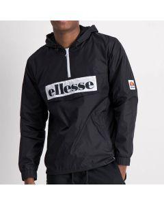 Shop ellesse Logo 3/4 Zip Flap Pocket Windbreaker Mens Black at Side Step Online