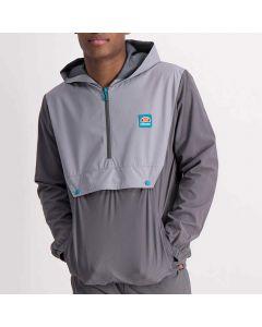 Shop ellesse Fabric Flap Pocket Windbreaker Men Charcoal Alloy at Side Step Online