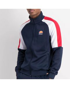 Shop ellesse Contrast Sleeve Track Top Mens Dress Blue White Red at Side Step Online