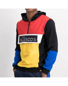 Shop ellesse Mixed Colorblock Jacket Mens Black White Blue Yellow at Side Step Online