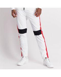 Shop ellesse Contrast Colour Panel Track Pants Men White Red at Side Step Online