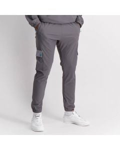 Shop ellesse Fabric Cargo Track Pants Mens Charcoal Alloy at Side Step Online