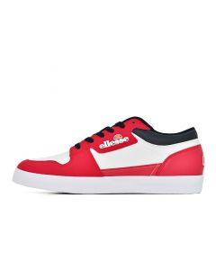Shop ellesse San Siro Mens White Red White at Side Step Online