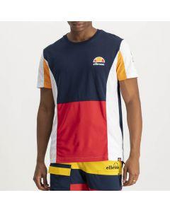 Shop ellesse Multi-Colour T-shirt Mens Dress Blue White Yellow at Side Step Online
