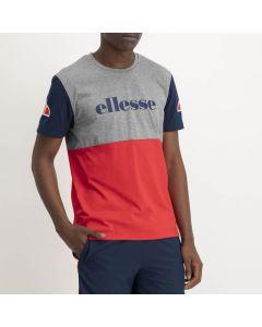 Shop ellesse Split Colour T-shirt Mens Grey Flame Scarlet Dress Blue at Side Step Online
