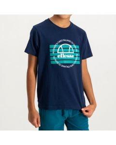 Shop ellese Heritage Logo T-shirt Youth Dress Blue at Side Step Online