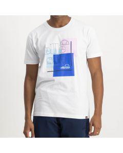 Shop ellesse Logo Print T-shirt Mens Bright White Pink at Side Step Online