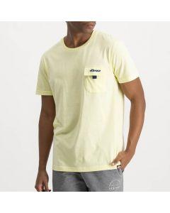 Shop ellesse Flap Pocket T-shirt Mens Tender Yellow Dress Blue at Side Step Online