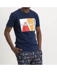 Shop ellesse Logo Print T-shirt Mens Dress Blue at Side Step Online