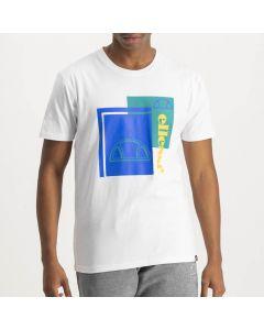 Shop ellesse Logo Print T-shirt Mens Bright White Dress Blue Jade Cream at Side Step Online