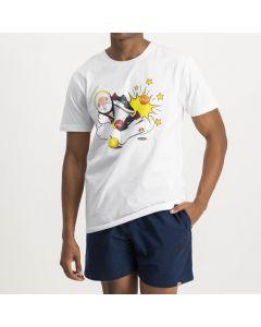 Shop ellesse Calcio Print T-shirt Mens White at Side Step Online