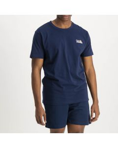 Shop ellesse Single Logo Calcio T-shirt Mens Dress Blue at Side Step Online