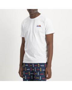 Shop ellesse Calcio Back Print Logo T-shirt Mens White at Side Step Online