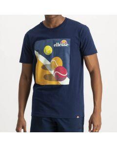 Shop ellesse Single Jersey Logo T-shirt Mens Dress Blue at Side Step Online