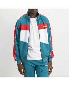 Shop ellesse Contrast Track Top Mens Para Green Red White at Side Step Online