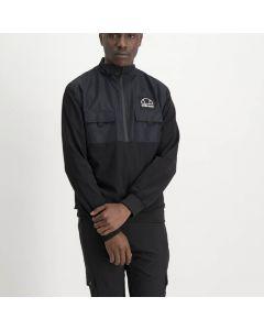 Shop ellesse Micro Fibre Wrap Knit 3/4 Pocket Jacket Mens Black at Side Step Online