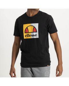Shop ellesse Logo Block T-shirt Mens Black Yellow White at Side Step Online