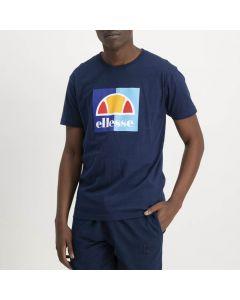 Shop ellese Box Logo T-shirt Mens Dress Blue Yellow Anther at Side Step Online