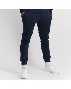 Shop ellesse Cuffed Leg Small Embroidered Logo Sweat Pants Men Dress Blue at Side Step Online