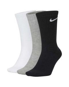 Shop Nike Cushioned Crew Socks 3 Pack Multi at Side Step Online