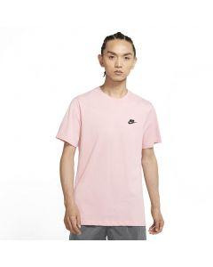 Shop Nike Sportswear Club T-shirt Mens Pink Glaze at Side Step Online