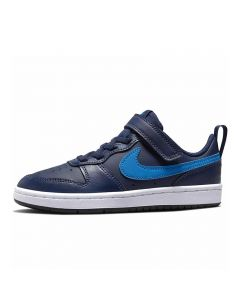 Shop Nike Court Borough Lo 2 Kids Sneaker Navy at Side Step Online
