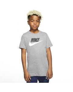 Shop Nike Sportswear Futura Icon T-shirt Youth Grey at Side Step Online