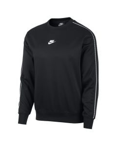 Shop Nike Repeat Logo Crew Sweater Men Black White at Side Step Online