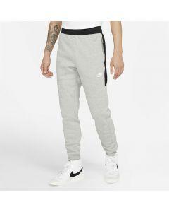 Shop Nike Hybrid Fleece Sweatpant Mens Heather Grey Black White at Side Step Online