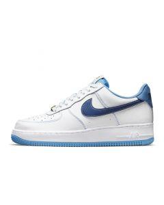 Shop Nike Air Force 1 '07 Mens Sneaker White University Blue Sail Deep Royal Blue at Side Step Online