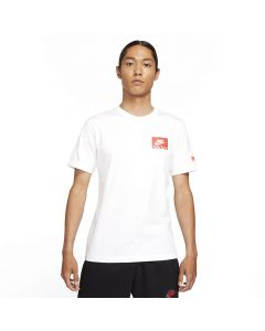 Shop Nike Air Figure Graphic T-shirt Mens White at Side Step Online