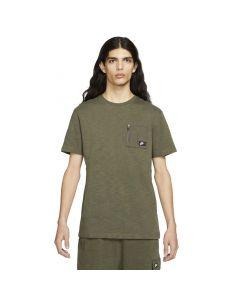 Shop Nike Sportswear Short Sleeve Cargo Mens T-shirt Khaki at Side Step Online