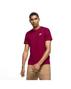 Shop Nike Sportswear Club T-shirt Mens Pomegranate White at Side Step Online