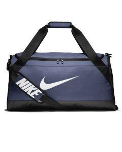 Shop Nike Brasilia Duffel Bag Navy at Side Step Online