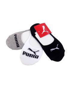 Shop Puma 3 Pack Invisible Socks Black at Side Step Online