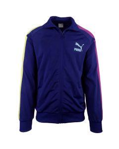 Shop Puma Iconic T7 Track Jacket Men Elektro Blue at Side Step Online